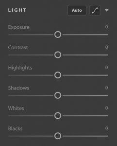 Adobe Photoshop o Lightroom CC - Controlli