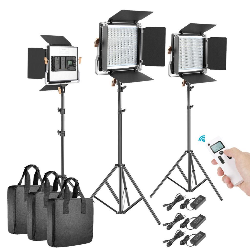 luci led per set fotografico
